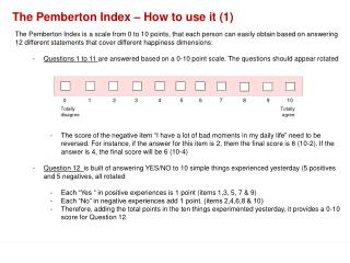 The Pemberton Index – How to use it (1)
