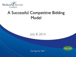 A Successful Competitive Bidding Model
