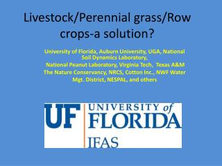 Livestock/Perennial grass/Row crops-a solution?