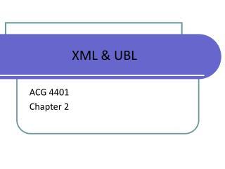 XML & UBL