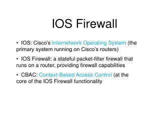 IOS Firewall