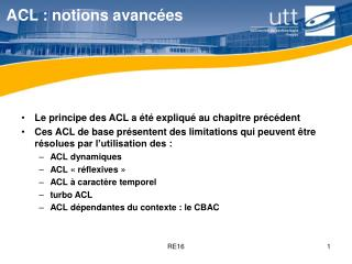 ACL : notions avancées