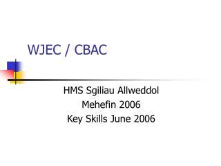 WJEC / CBAC
