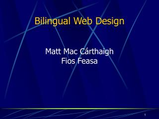 Bilingual Web Design