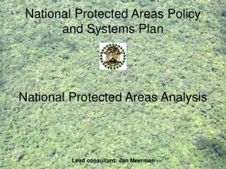 National Protected Areas Policy and Systems Plan