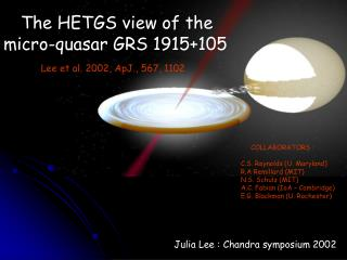 The HETGS view of the micro-quasar GRS 1915+105