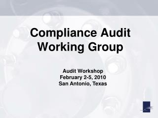 Compliance Audit Working Group