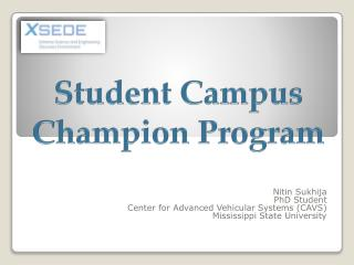 Student Campus Champion Program