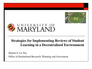 Strategies for Implementing Reviews of Student Learning in a Decentralized Environment