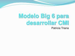 Modelo Big 6 para desarrollar CMI