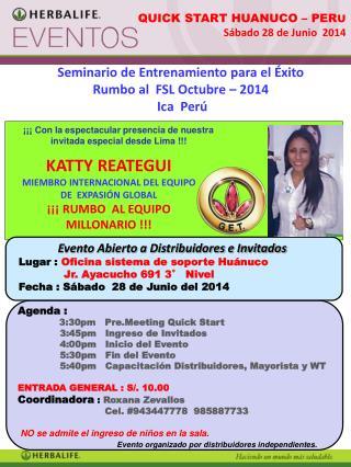 Seminario de Entrenamiento para el Éxito Rumbo al  FSL Octubre – 2014  Ica  Perú