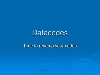 Datacodes