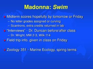Madonna: Swim