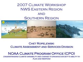 2007 Climate Workshop NWS Eastern Region  and  Southern Region