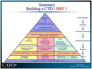 Summary Building a CTD /  MRF 1