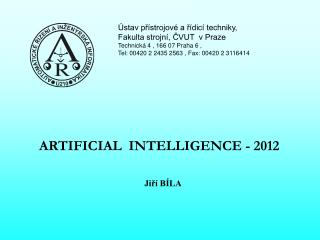 ARTIFICIAL  INTELLIGENCE - 2012