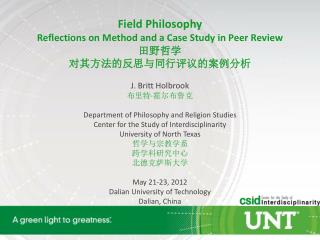 Field Philosophy Reflections on Method and a Case Study in Peer Review ???? ?????????????????
