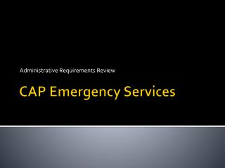 CAP Emergency Services