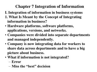 Chapter 7 Integration of Information