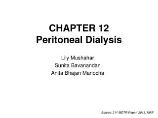 CHAPTER 12 Peritoneal Dialysis