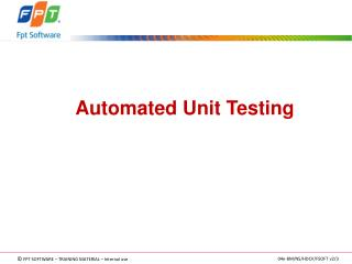 Automated Unit  Testing