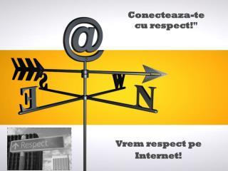 Vrem respect pe Internet!