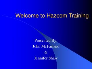 Welcome to Hazcom Training