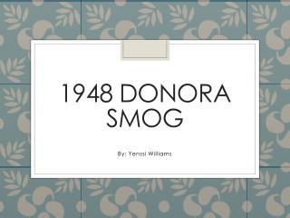 1948 Donora Smog