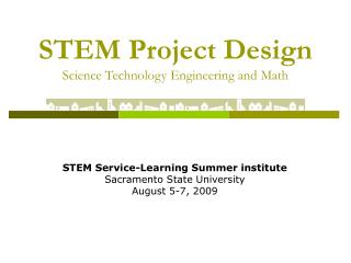 STEM Project Design Science Technology Engineering and Math