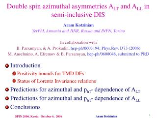 Double spin azimuthal asymmetries A LT  and A LL  in semi-inclusive DIS