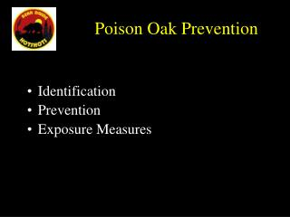Poison Oak Prevention
