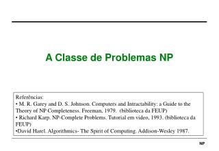 A Classe de Problemas NP