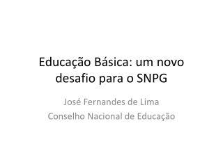 Educação Básica: um novo desafio para o SNPG