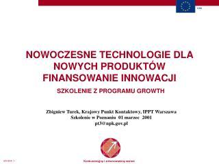 Zbigniew Turek, Krajowy Punkt Kontaktowy, IPPT Warszawa Szkolenie  w Poznaniu 01 marzec   200 1