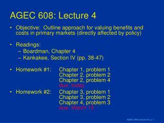 AGEC 608: Lecture 4