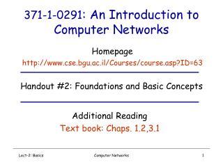 Lect-2: Basics