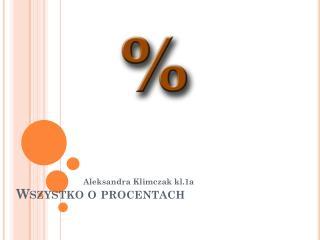Wszystko o procentach