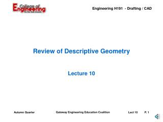 Review of Descriptive Geometry