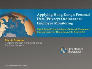 Applying Hong Kong's Personal Data (Privacy) Ordinance to Employee Monitoring