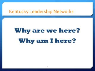Kentucky Leadership Networks