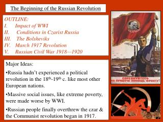The Beginning of the Russian Revolution