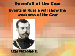 Downfall of the Czar