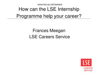 How can the LSE Internship Programme help your career?