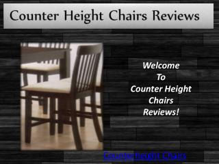 Counterheight Chairs