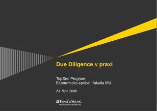 Due Diligence v praxi