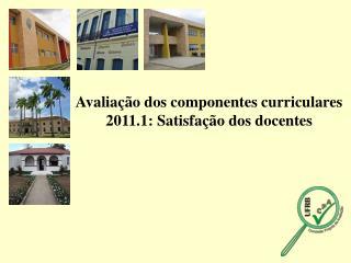 Avaliação dos componentes curriculares 2011.1: Satisfação dos docentes