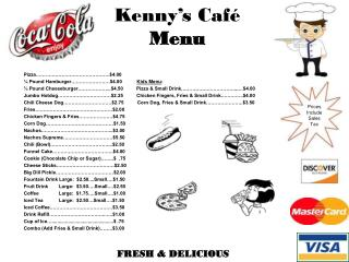 Kenny's Café Menu