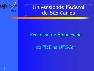 Universidade Federal  de S�o Carlos