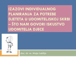 doc. dr. sc. Maja Laklija