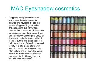 MAC Eyeshadow cosmetics